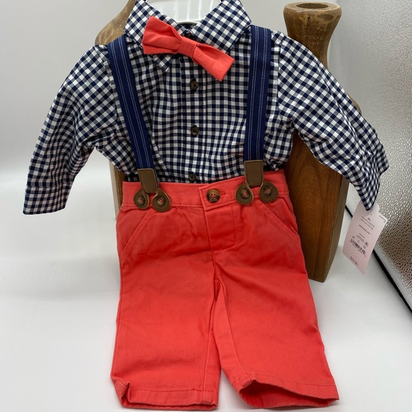 Just one you infant boy suspender outfit
